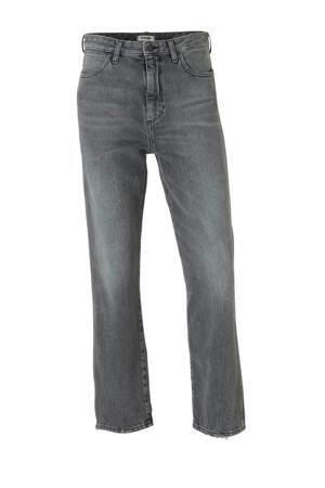 high waist loose fit jeans grijs