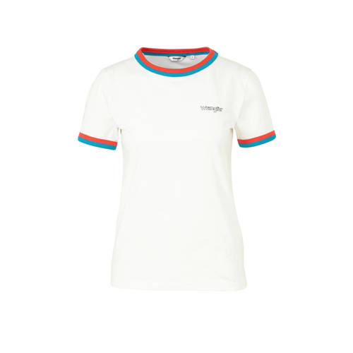 Wrangler T-shirt met logo wit