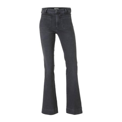 Wrangler flared jeans donkergrijs
