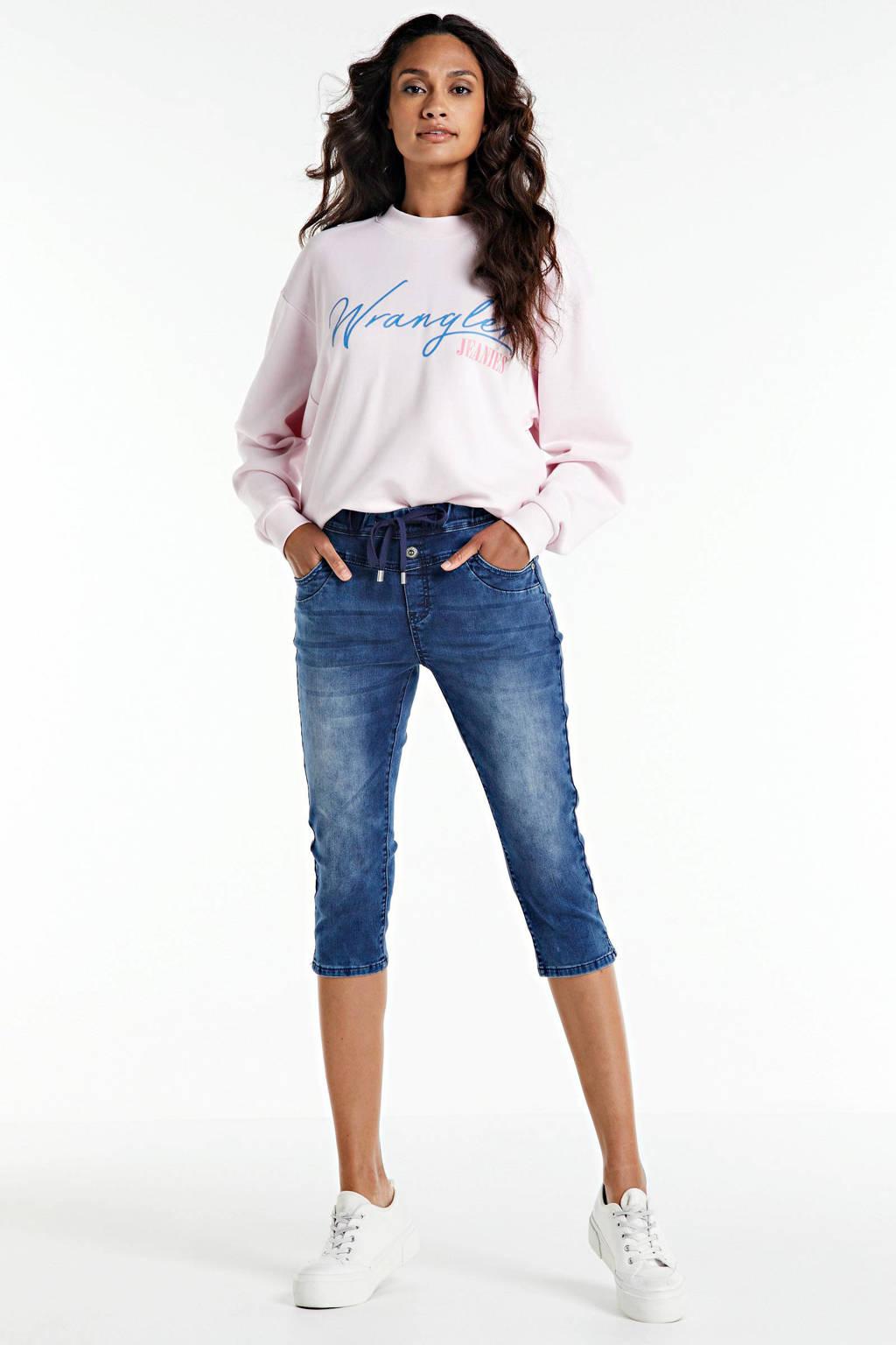 Wrangler sweater met logo lichtroze, Lichtroze