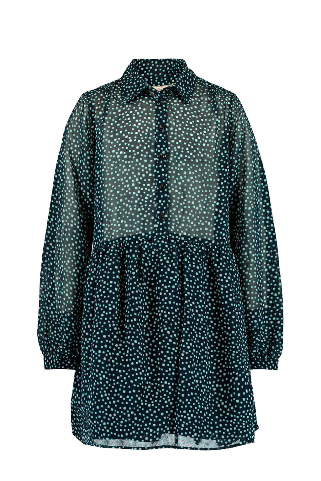 America Today Junior blousejurk Dione met all over print donkerblauw/wit, Donkerblauw/wit