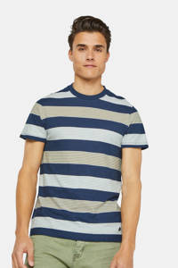 WE Fashion gestreept T-shirt donkerblauw/wit/lichtblauw, Donkerblauw/wit/lichtblauw