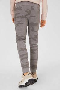 C&A Clockhouse slim fit joggingbroek met camouflageprint grijs, Grijs