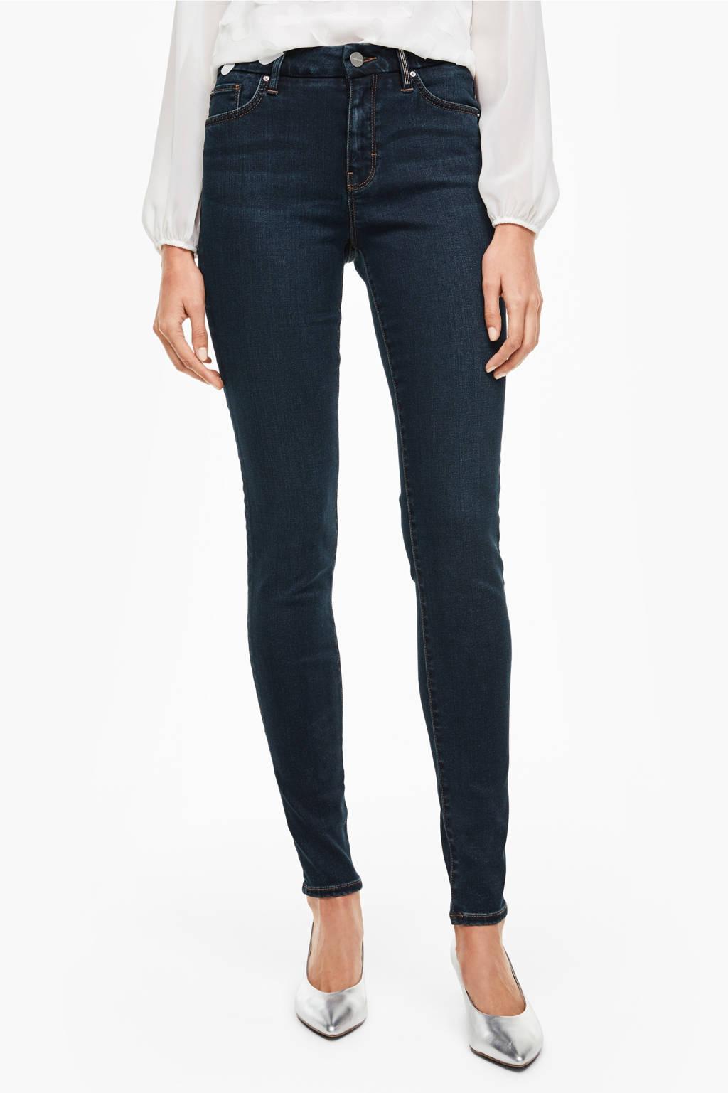 s.Oliver BLACK LABEL slim fit jeans donkerblauw, Donkerblauw