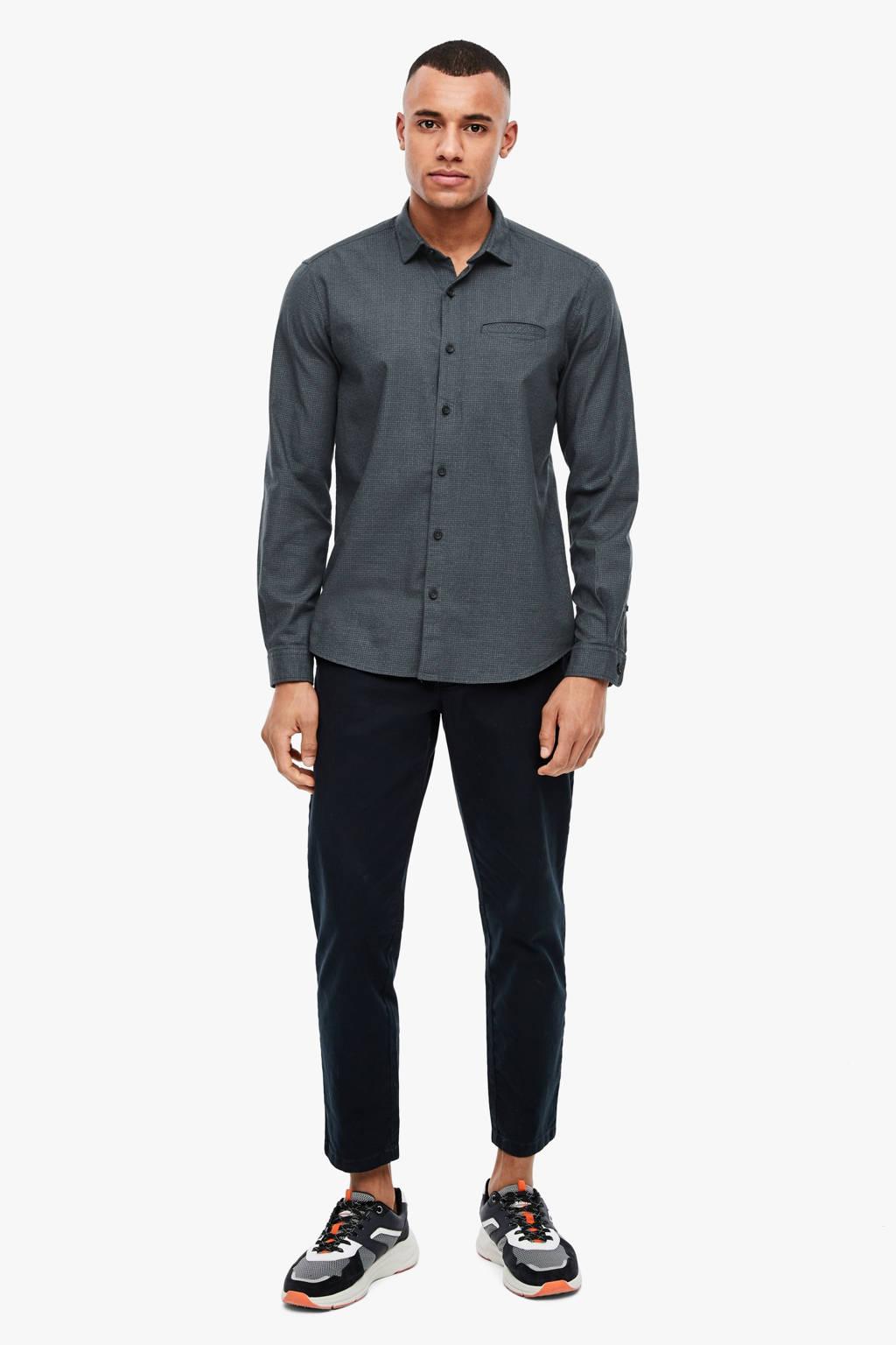 s.Oliver regular fit overhemd grijs, Grijs