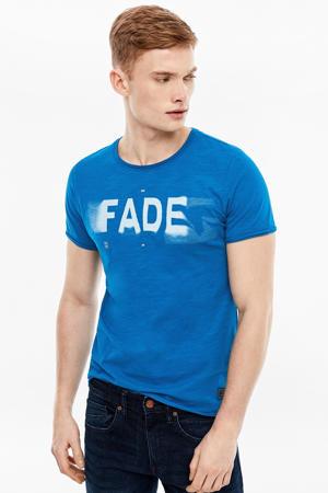 T-shirt met printopdruk aqua