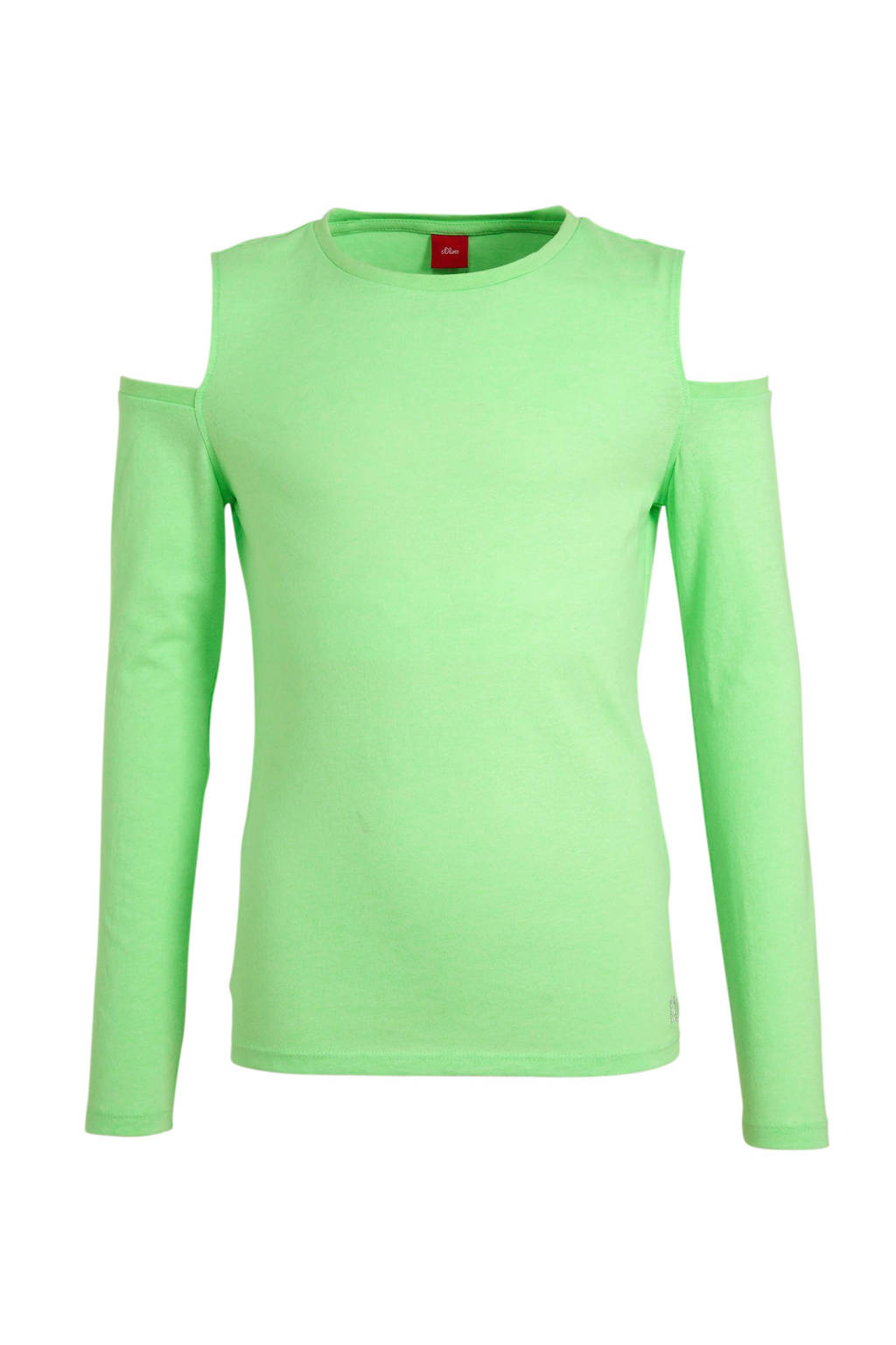 s.Oliver open shoulder top groen, Groen