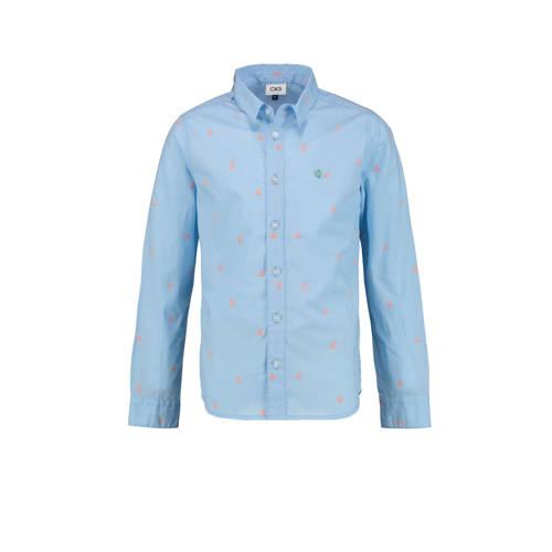 CKS KIDS overhemd Botan met all over print lichtbl