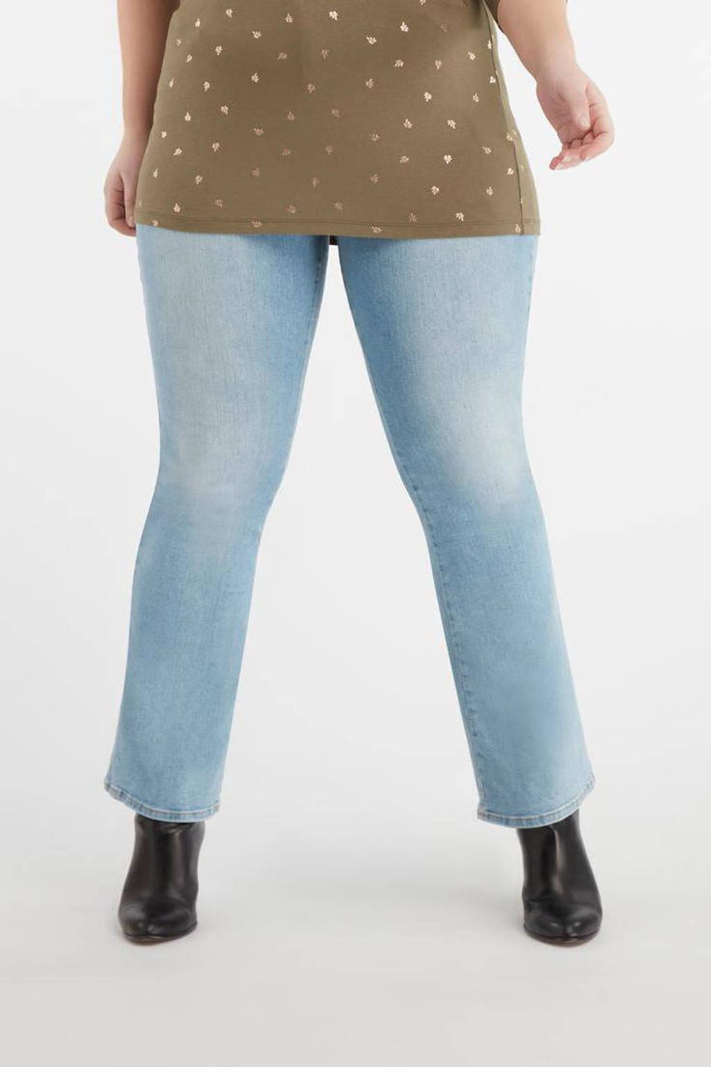 MS Mode high waist flared jeans blauw, Blauw