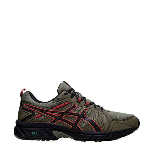 ASICS Gel-Venture 7 hardloopschoenen kaki/zwart