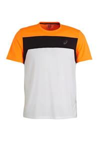 ASICS   hardloopshirt wit/zwart/oranje, Wit/zwart/oranje