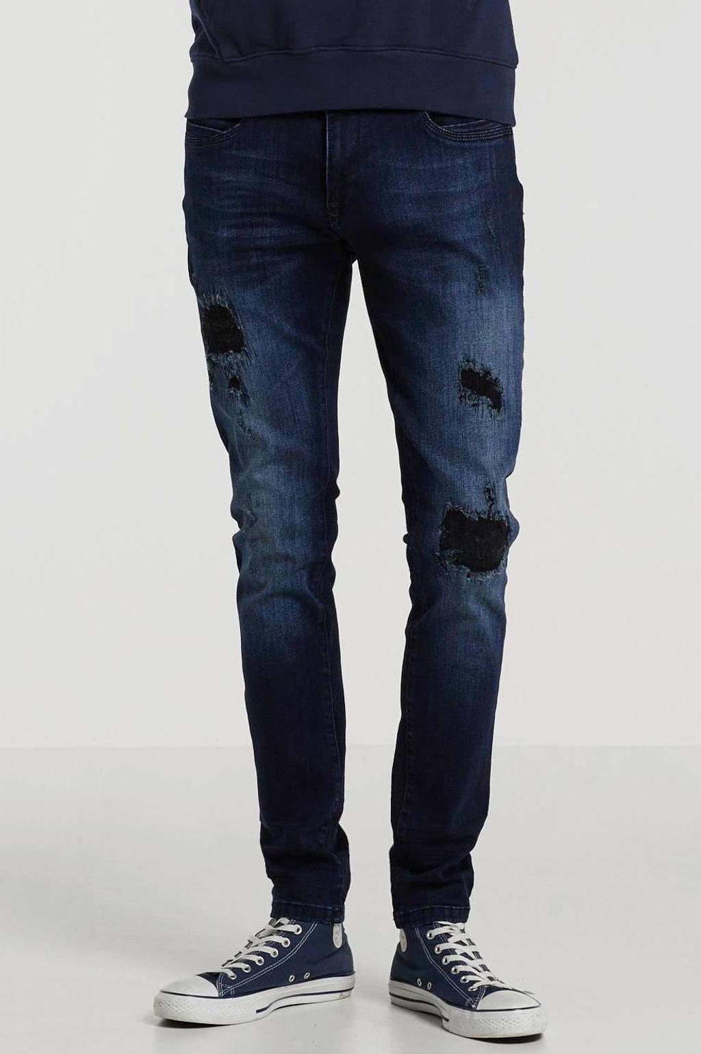 GABBIANO skinny fit jeans Ultimo dark blue destroyed, Drak blue destryed