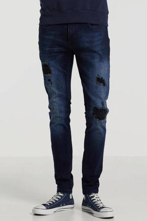 skinny fit jeans Ultimo dark blue destroyed