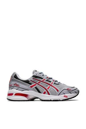 Gel-1090  hardloopschoenen grijs/rood