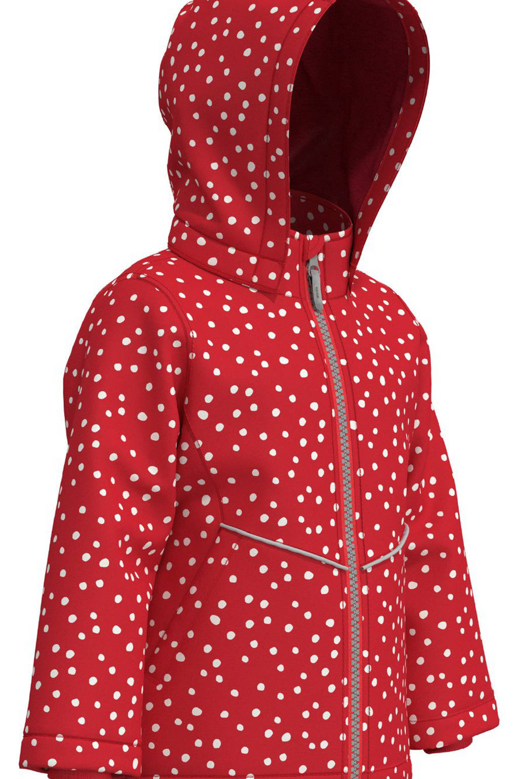 NAME IT MINI jas Maxi met stippen rood/wit, Rood/wit