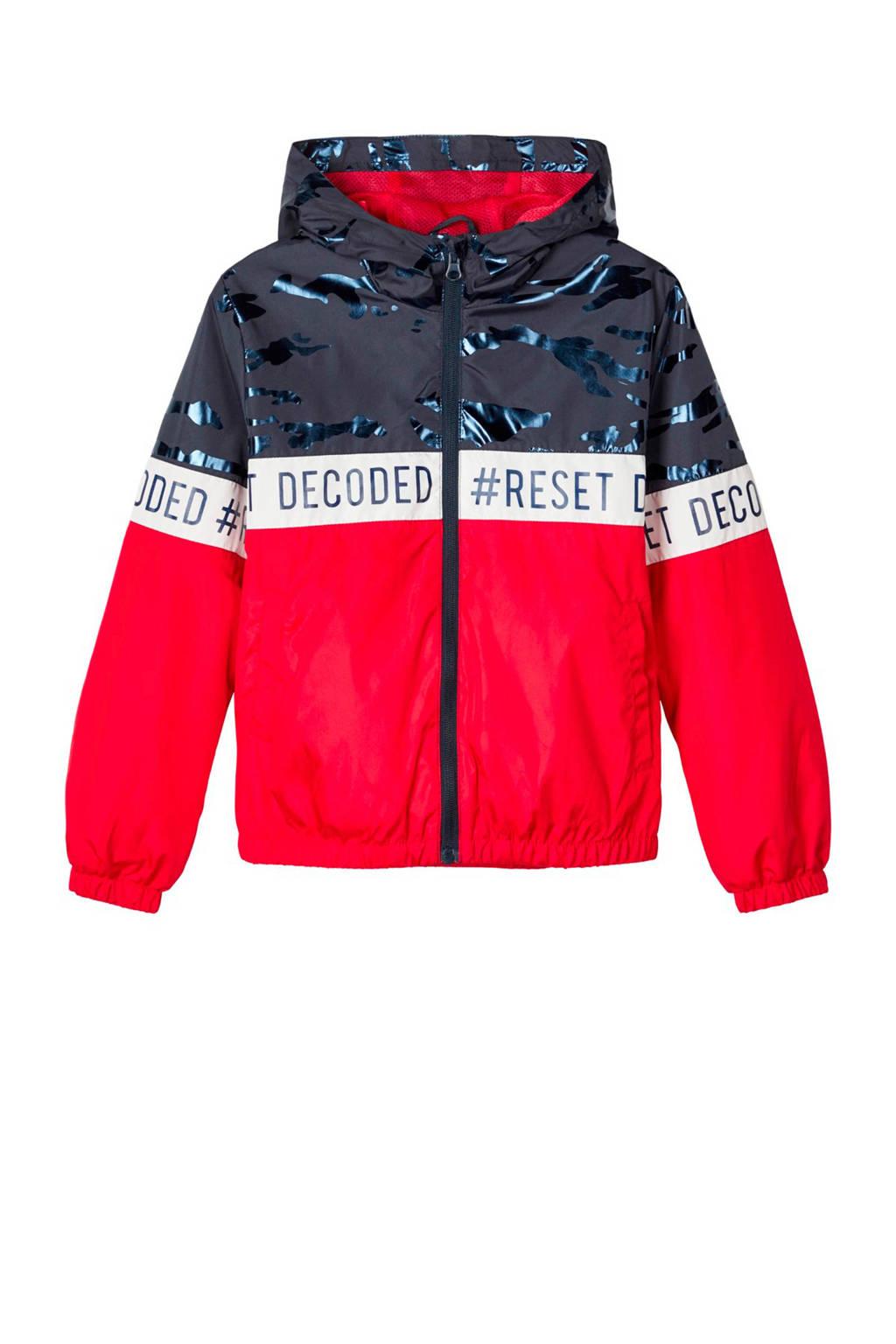 NAME IT KIDS zomerjas Milo rood/donkerblauw/wit, Rood/donkerblauw/wit