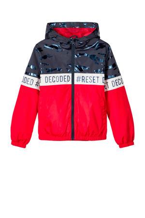 zomerjas Milo rood/donkerblauw/wit