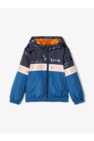 zomerjas Milo blauw/donkerblauw/oranje