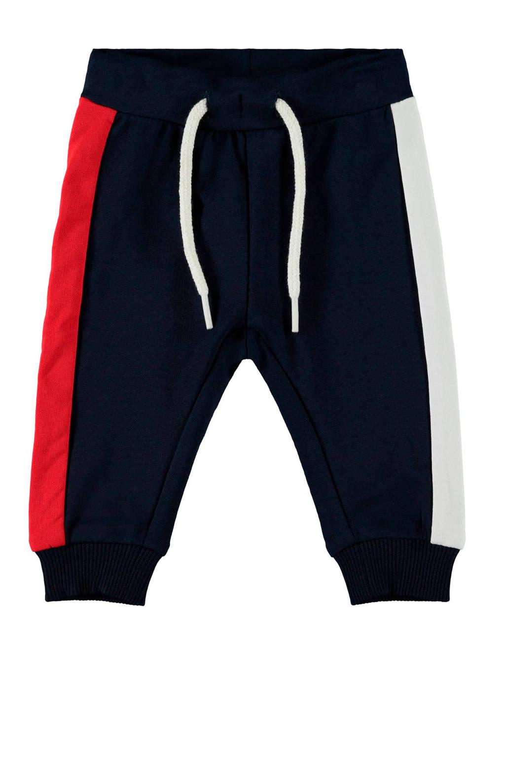 NAME IT BABY broek Defino donkerblauw/rood/wit, Donkerblauw/rood/wit