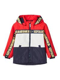 NAME IT MINI zomerjas Max rood/donkerblauw/wit, Rood/donkerblauw/wit
