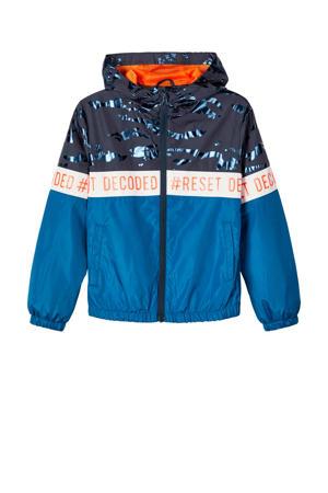 zomerjas Milo blauw/donkerblauw/wit