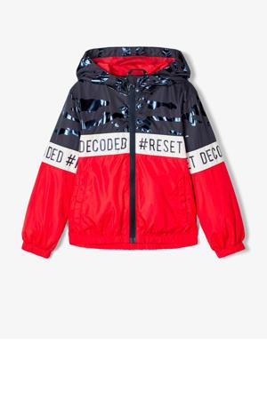 zomerjas Milo rood/donkerblauw