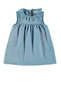 NAME IT BABY spijkerjurk Batytte met ruches light denim, Light denim