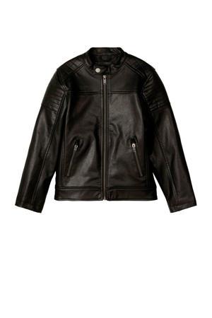 imitatieleren zomerjas Malder zwart