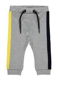 NAME IT BABY broek Defino grijs melange/geel/zwart, Grijs melange/geel/zwart