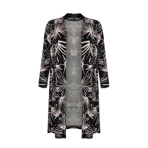 Yoek vest met all over print zwart/wit