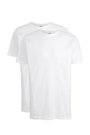 T-shirt wit - set van 2