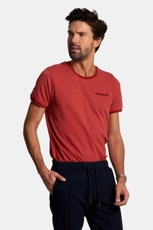 T-shirt met all over print rood
