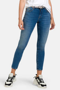 Eksept by Shoeby cropped high waist skinny jeans Ametist L28 blauw, Blauw