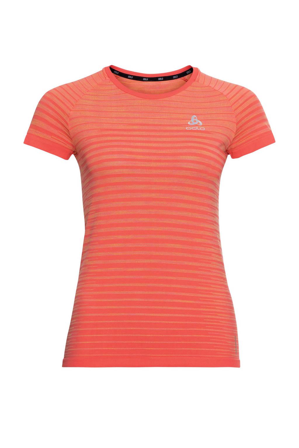 Odlo hardloopshirt oranje, Oranje