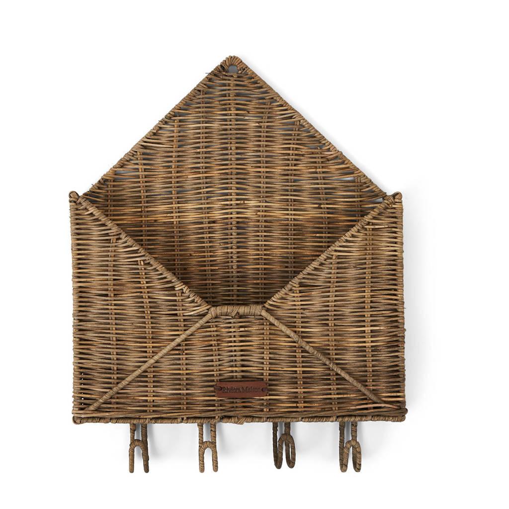 Riviera Maison brievenbusbakje You've Got Mail, Bruin