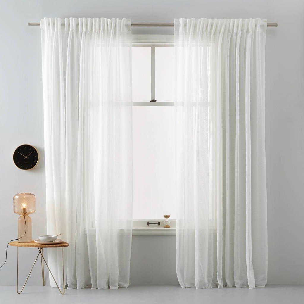 Wehkamp Home vitrage kant en klaar transparant gordijn (per stuk) (150 x 295 cm), Off-White