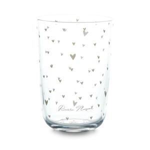 waterglas Lovely Hearts (Ø8,5 cm)
