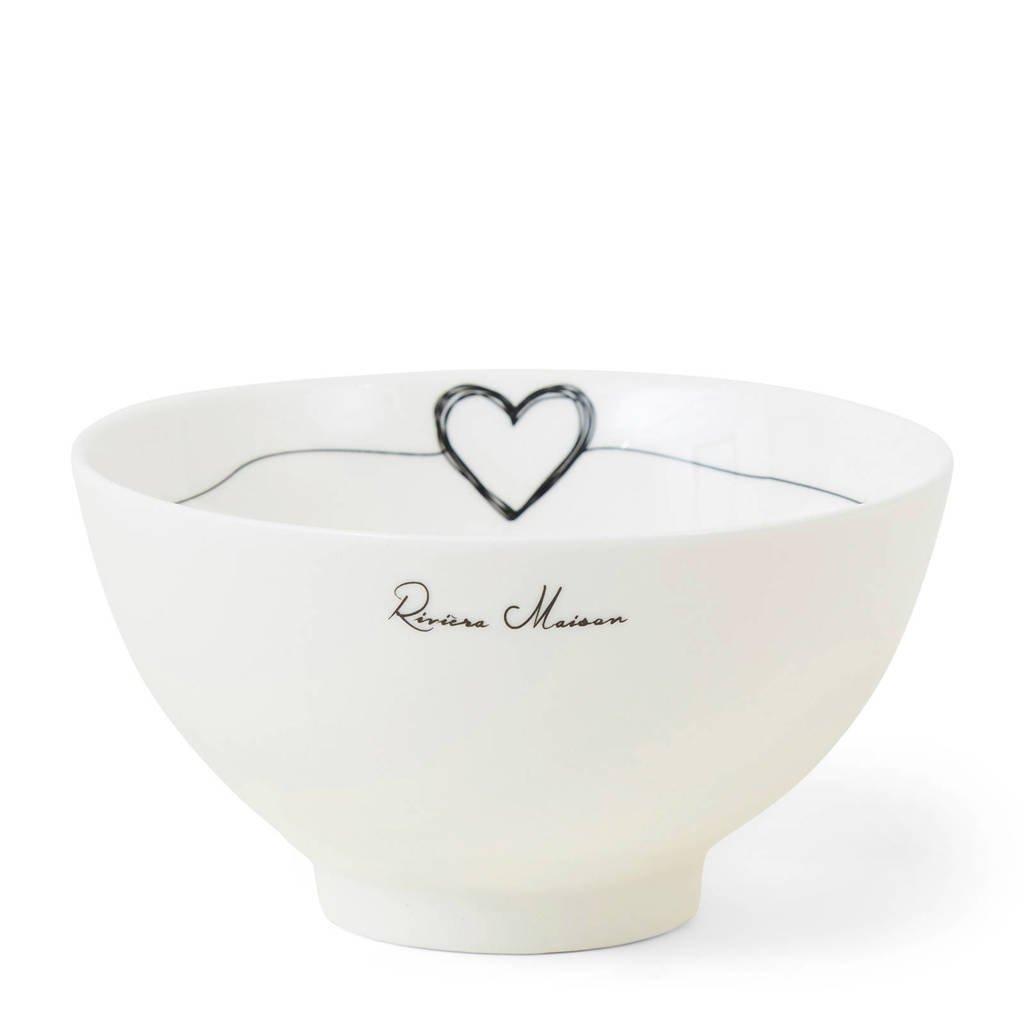 Riviera Maison kom Lots Of Love (Ø12 cm), Wit