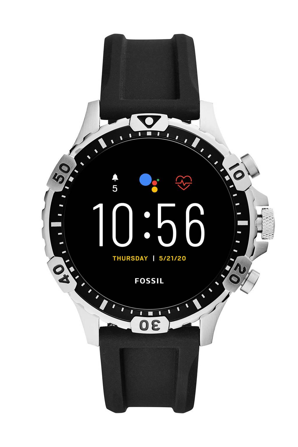 Fossil Garrett Hr Gen 5 Heren Display Smartwatch FTW4041, Zwart