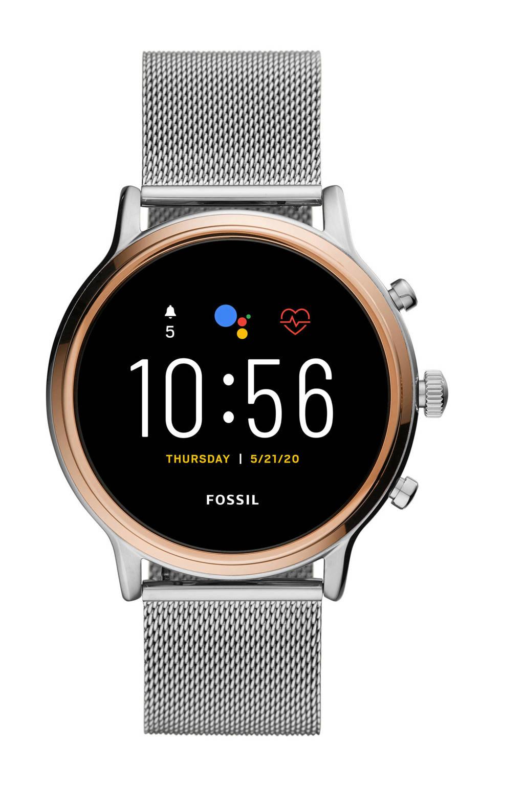 Fossil Julianna Hr Gen 5 Dames Display Smartwatch FTW6061, Zilver
