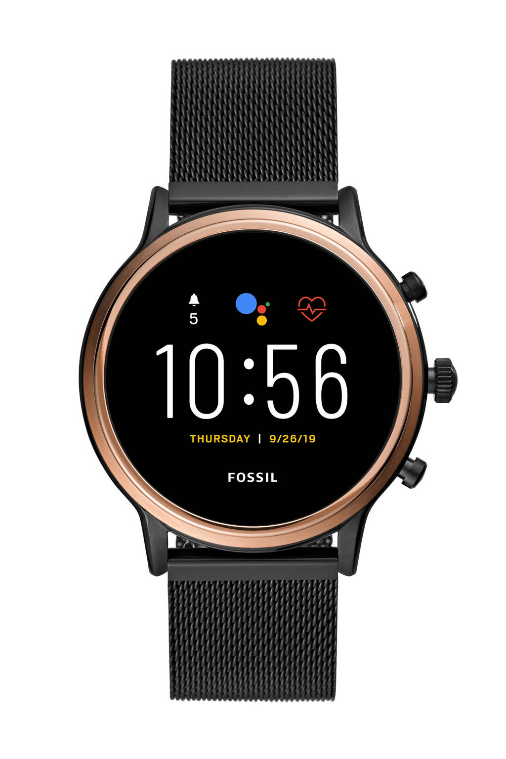 Fossil Julianna Hr Gen 5 Heren Display Smartwatch FTW6036, Zwart