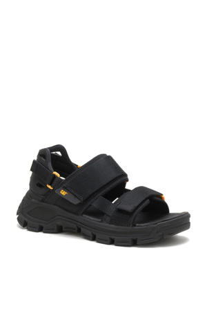 Progressor  chunky nubuck sandalen zwart