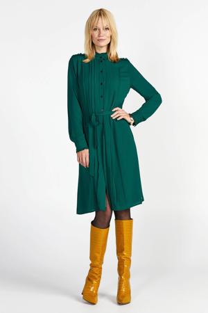 jurk met ceintuur groen
