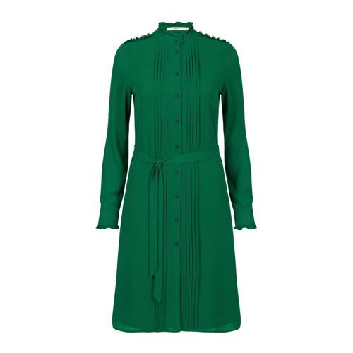 Steps jurk met ceintuur groen