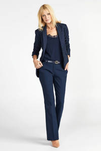Steps blazer met all over print blauw, Blauw