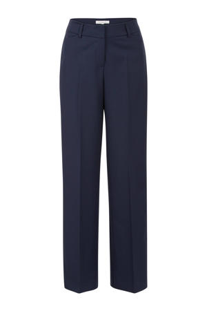 high waist loose fit pantalon donkerblauw