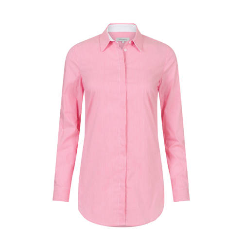PROMISS gestreepte blouse roze