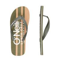O'Neill Profile Cali Wood Sandals  teenslippers groen, Groen/Kaki