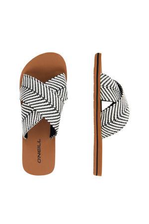 Ditsy Slide Sandals  slippers wit/zwart