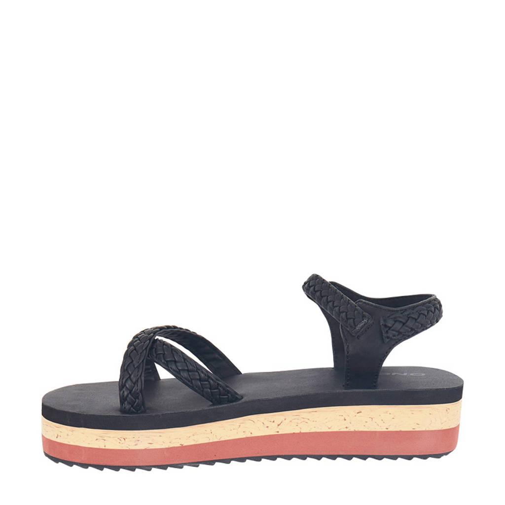 O'Neill Batida Platform Strap Sandals  plateau sandalen zwart, Zwart/multi